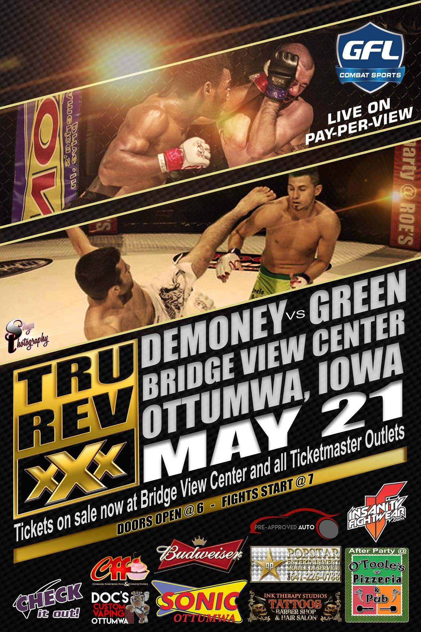 True Revelations MMA May 21 2016 fight card