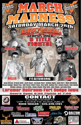 Brutaal Genesis MMA Fights March 26 2016 fight card
